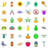 Insect icons set, cartoon style. Insect icons set. Cartoon style of 36 insect vector icons for web isolated on white background Royalty Free Stock Photos