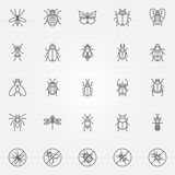 Insect icons set Stock Images