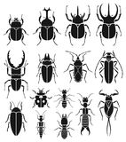 Insect icons set. Vector. Stock Photography