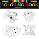 Insect kleurend boek royalty-vrije illustratie