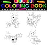 Insect kleurend boek stock illustratie