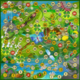 Insect life board game   Vector Stock Images