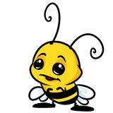 Insect little bee cartoon Royalty Free Stock Images