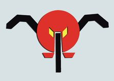 Insect logo. Insect, Mosquito logo red,yellow and black Stock Photo