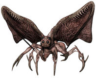 Insect monster with wings. 3D render of an insect monster with large wings Royalty Free Stock Image