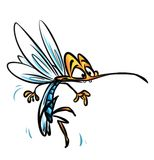 Insect mosquito cartoon illustration Royalty Free Stock Photography