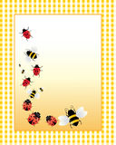 Insect note card Royalty Free Stock Photography