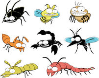 Insect pests at home vector illustration