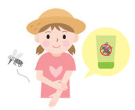 Insect repellent kids royalty free illustration