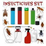 Insect repellent set Royalty Free Stock Images