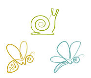 Insect set royalty free illustration