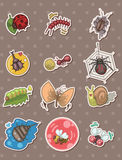 Insect stickers Royalty Free Stock Images