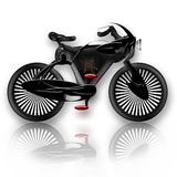 Insect Styled Bicycle. Future concept design insect styled black bicycle over white background Stock Images