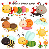 Insect in Summer Season vector Set Stock Photo