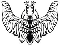 Insect in tattoo style Royalty Free Stock Image
