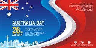 Insecte élégant, avec le style de drapeau de l'Australie et la conception de vague illustration libre de droits