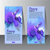 Insecte avec la fleur tirée par la main de Pancy Photo stock