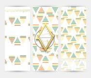 Insecte avec les modèles géométriques Style moderne de brochure Photographie stock libre de droits