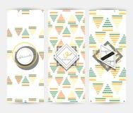 Insecte avec les modèles géométriques Style moderne de brochure Photographie stock