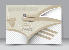 Insecte, brochure, orientation de paysage de conception de calibre de couverture de magazine Image libre de droits