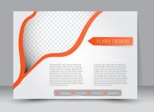 Insecte, brochure, orientation de paysage de conception de calibre de couverture de magazine Photo libre de droits