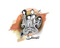 Insecte créatif heureux de Diwali pour le festival de Diwali Photos stock