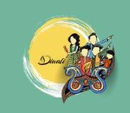 Insecte créatif heureux de Diwali pour le festival de Diwali Photographie stock libre de droits