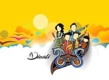 Insecte créatif heureux de Diwali pour le festival de Diwali Images libres de droits