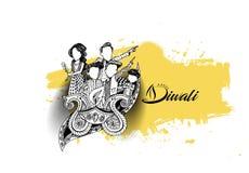 Insecte créatif heureux de Diwali pour le festival de Diwali Image stock