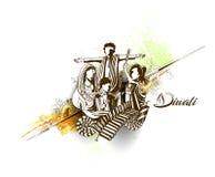 Insecte créatif heureux de Diwali pour le festival de Diwali Photo stock