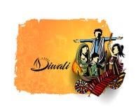 Insecte créatif heureux de Diwali pour le festival de Diwali Image libre de droits