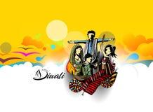 Insecte créatif heureux de Diwali pour le festival de Diwali Photo libre de droits