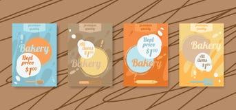 Insecte de boulangerie, cartes de remise Billet en ligne de vente Bannière pour les réseaux sociaux illustration stock