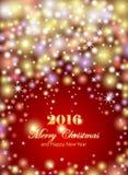 Insecte de célébrations de Joyeux Noël et de bonne année, bannière illustration stock