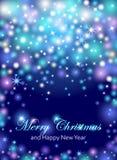 Insecte de célébrations de Joyeux Noël et de bonne année, bannière, p illustration de vecteur