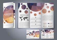 Insecte de fois de la conception trois de calibre, brochure Photo stock