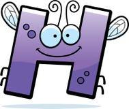 Insecte de la lettre H de bande dessinée Photos stock