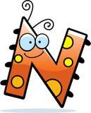 Insecte de la lettre N de bande dessinée Image libre de droits