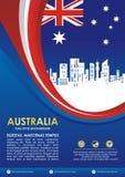 Insecte de style de drapeau de l'Australie, avec la conception de ondulation élégante illustration de vecteur