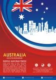 Insecte de style de drapeau de l'Australie, avec la conception de ondulation élégante illustration stock