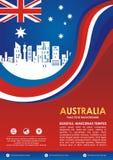 Insecte de style de drapeau de l'Australie, avec la conception de ondulation élégante illustration libre de droits