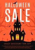Insecte de vente de Halloween avec le château Images stock
