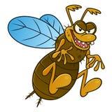 Insecte de vol laid Image libre de droits