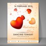 Insecte ou bannière de partie de célébration de jour de valentines Images libres de droits