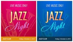 Insecte pour Jazz Night Party - dirigez le calibre de bannière pour l'événement de concert de musique de danse dans le beau style illustration de vecteur