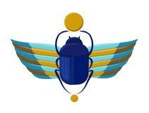 Insecte-scarabée égyptien avec des ailes Symbolisme de l'Egypte antique Scarabée de Scarabeus Insecte de scarabée Photo libre de droits