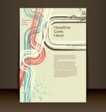 Insecte, tract, disposition de livret. Calibre Editable de conception Photos stock
