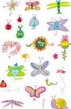 Insecten en Bloemen - reeks Stock Fotografie