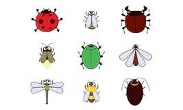 Insectenbeeldverhaal Royalty-vrije Stock Afbeeldingen