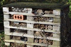Insectenhotel Stock Foto